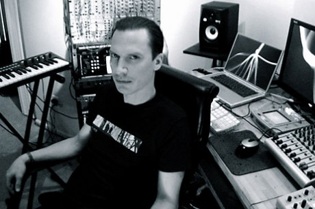 Chris Peterson in his studio