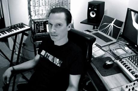 Chris Peterson in his studio